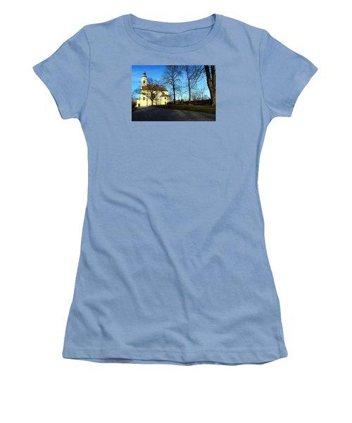 Country Church Women's T-Shirt (Junior Cut) by Christian Slanec