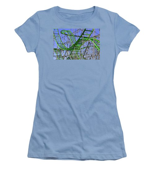 County Fair Thrill Ride Women's T-Shirt (Junior Cut) by Joe Kozlowski