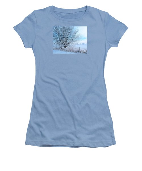 Covered In Ice Women's T-Shirt (Junior Cut) by Heather King