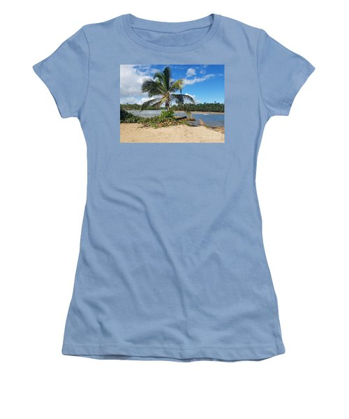 Covered Palm Beach Women's T-Shirt (Athletic Fit)
