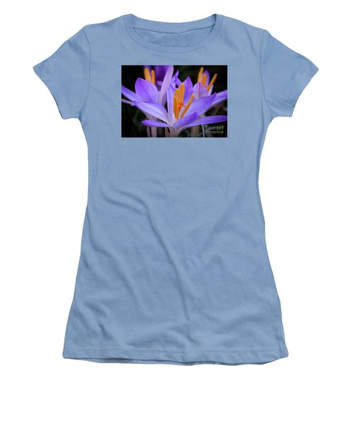 Women's T-Shirt (Junior Cut) featuring the photograph Crocus Explosion by Douglas Stucky