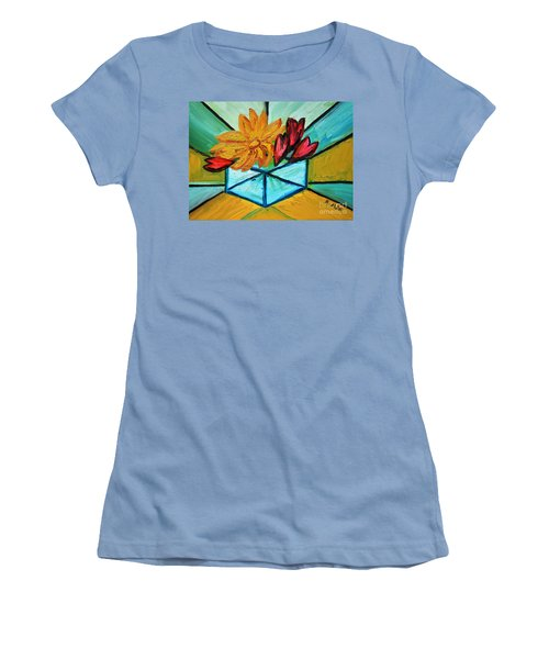 Cubes Women's T-Shirt (Junior Cut) by Ramona Matei