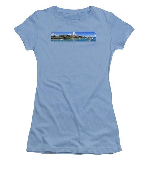 Women's T-Shirt (Junior Cut) featuring the photograph Cruz Bay, St. John by Adam Romanowicz