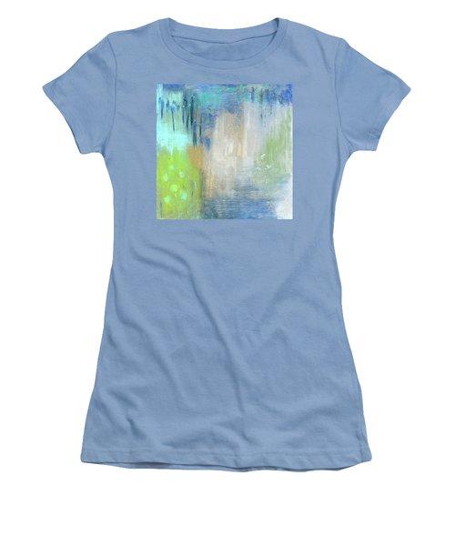 Women's T-Shirt (Junior Cut) featuring the painting Crystal Deep  by Michal Mitak Mahgerefteh