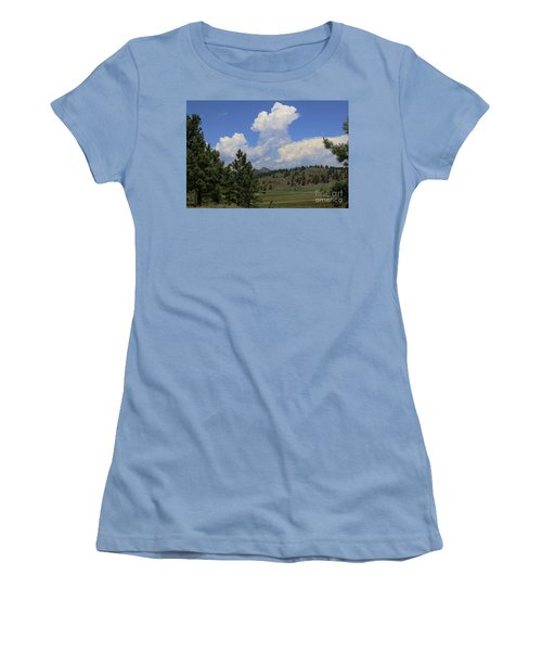 Crystal Peak Colorado Women's T-Shirt (Junior Cut) by Jeanette French