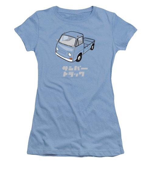 Custom Color Subaru Sambar Truck Women's T-Shirt (Athletic Fit)
