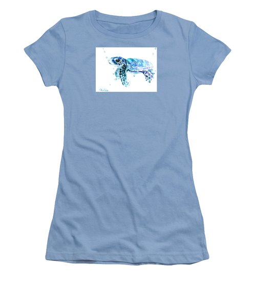 Cute Baby Turtle Women's T-Shirt (Junior Cut) by Suren Nersisyan