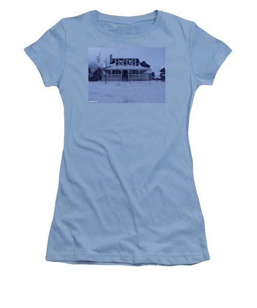 Dahl House Women's T-Shirt (Junior Cut) by Gene Gregory