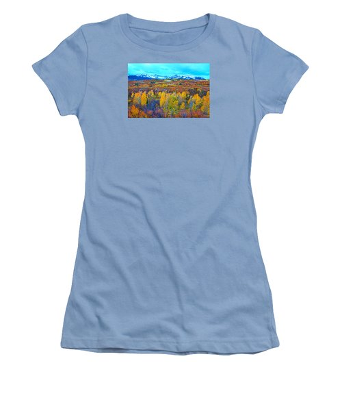 Dallas Divide Palette  Women's T-Shirt (Junior Cut) by Bijan Pirnia
