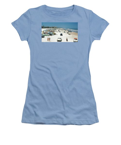 Daytona Beach Florida - 1957 Women's T-Shirt (Athletic Fit)