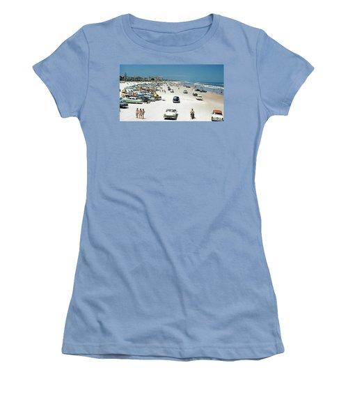Daytona Beach Florida - 1957 Women's T-Shirt (Athletic Fit)
