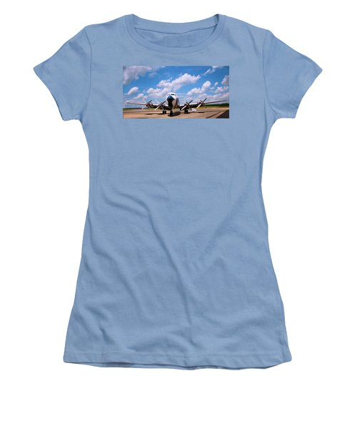 Women's T-Shirt (Junior Cut) featuring the digital art Dc 7 by Chris Flees