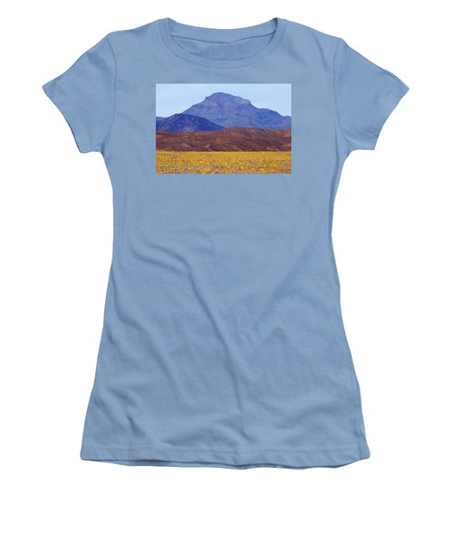 Women's T-Shirt (Junior Cut) featuring the photograph Death Valley Superbloom 201 by Daniel Woodrum