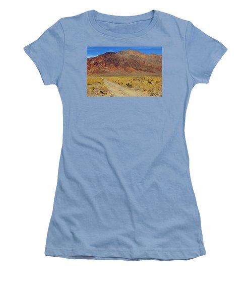 Women's T-Shirt (Junior Cut) featuring the photograph Death Valley Superbloom 205 by Daniel Woodrum