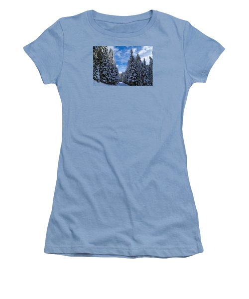 Deep In The Snowy Forest Women's T-Shirt (Athletic Fit)