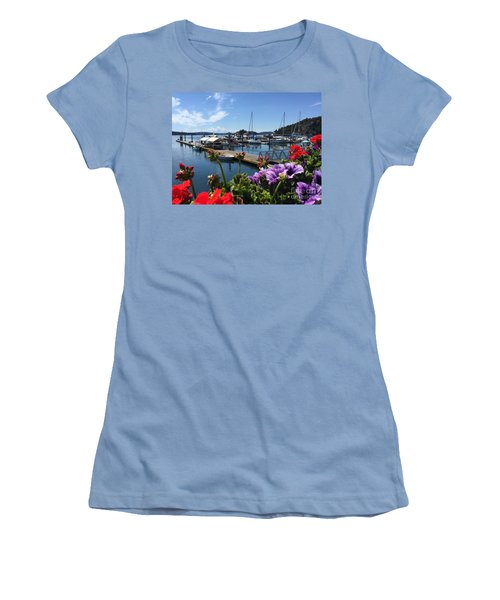 Deer Harbor By Day Women's T-Shirt (Junior Cut) by William Wyckoff
