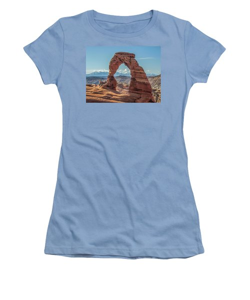 Delicate Arch In Early Morning Women's T-Shirt (Athletic Fit)