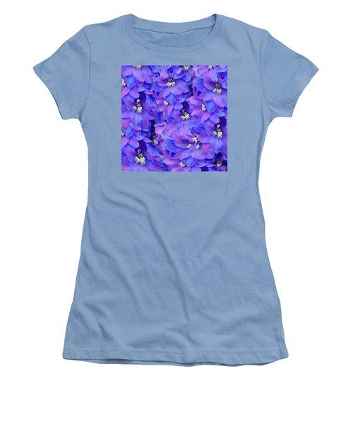 Delphinium Blue Women's T-Shirt (Athletic Fit)