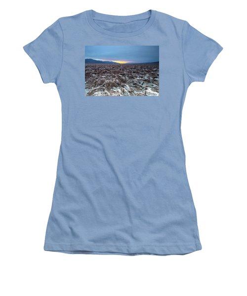 Women's T-Shirt (Junior Cut) featuring the photograph Devil's Golf Course  by Catherine Lau