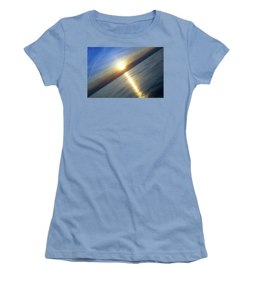 Diagonal Sunset Women's T-Shirt (Athletic Fit)