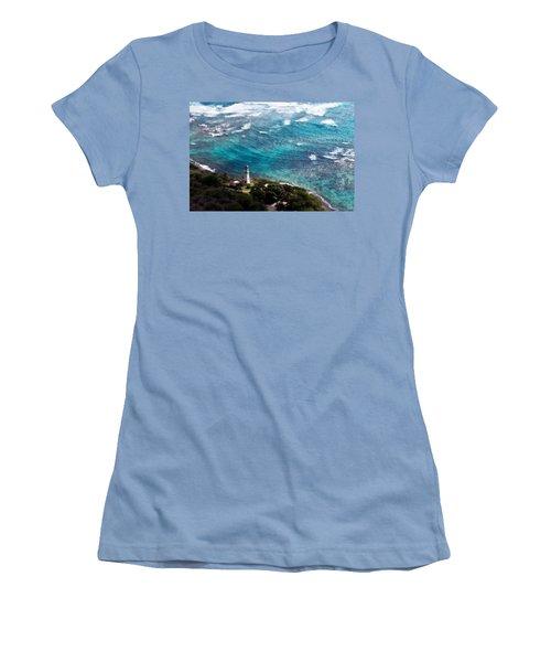 Diamond Head Lighthouse Women's T-Shirt (Junior Cut) by Steven Sparks