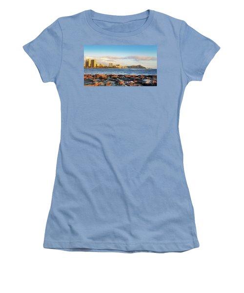 Women's T-Shirt (Junior Cut) featuring the photograph Diamond Head, Waikiki by Kristine Merc