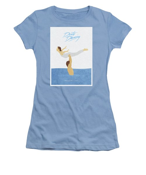 Women's T-Shirt (Athletic Fit) featuring the painting Dirty Dancing by Inspirowl