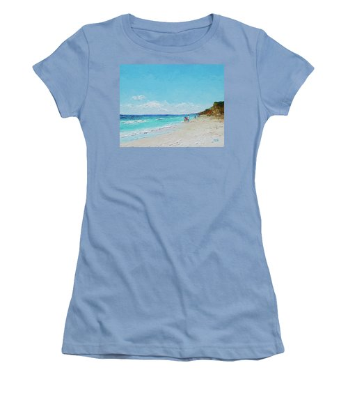 Ditch Plains Beach Montauk Hamptons Ny Women's T-Shirt (Athletic Fit)