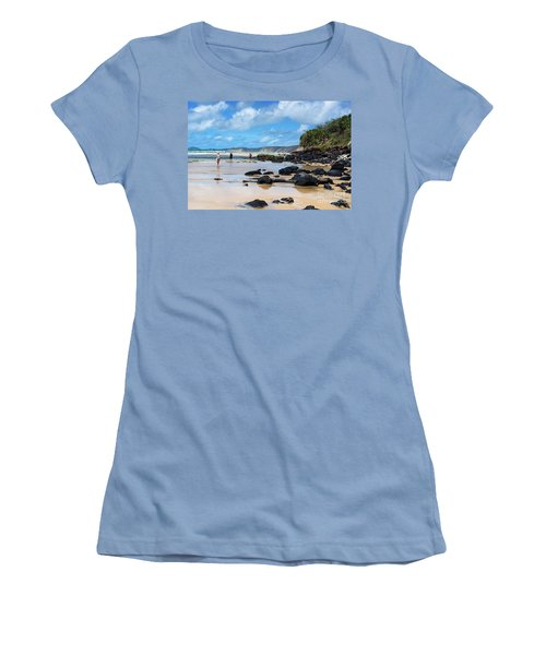 Double Island Point  Women's T-Shirt (Athletic Fit)
