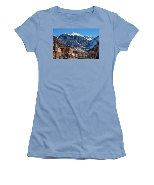Downtown Telluride Women's T-Shirt (Athletic Fit)
