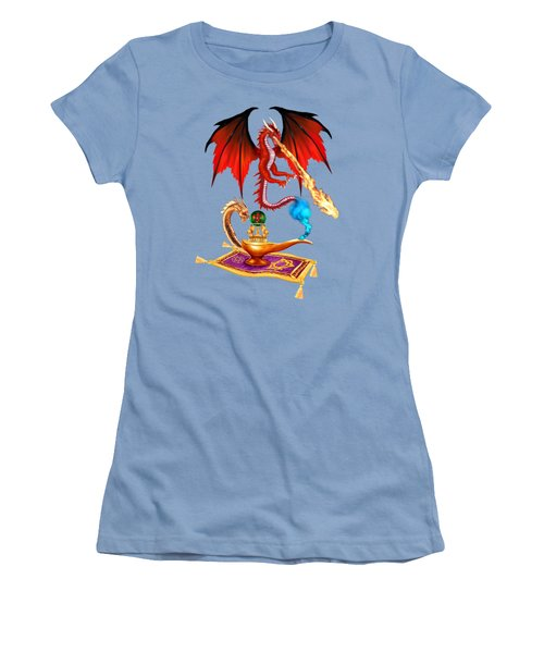 Dragon Genie Women's T-Shirt (Junior Cut) by Glenn Holbrook