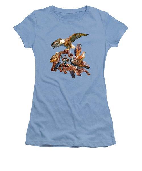 Dream Catcher - Spirit Birds Women's T-Shirt (Junior Cut) by Carol Cavalaris
