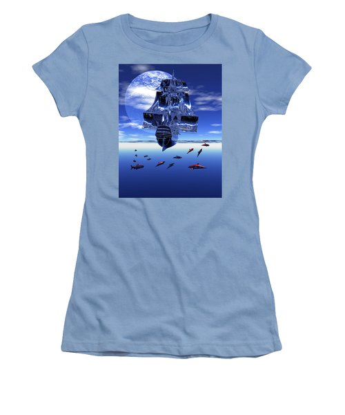 Dream Sea Voyager Women's T-Shirt (Athletic Fit)