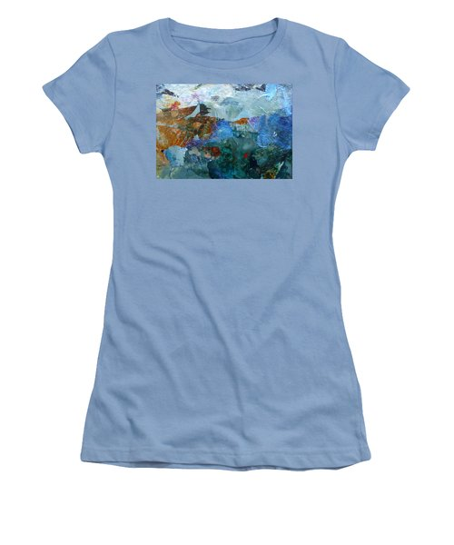 Women's T-Shirt (Junior Cut) featuring the painting Dreamland by Mary Sullivan