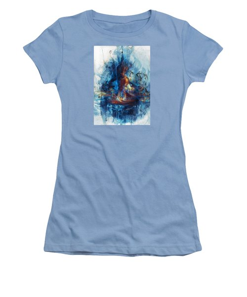 Women's T-Shirt (Junior Cut) featuring the digital art Drum by Te Hu