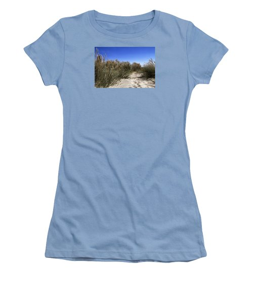 Women's T-Shirt (Junior Cut) featuring the photograph Dune Grasses by Shirley Mitchell