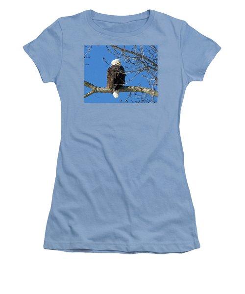 Eagle Watch Women's T-Shirt (Junior Cut) by Sue Stefanowicz
