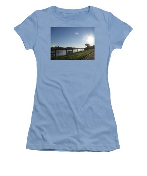 Early Morning On The Savannah River Women's T-Shirt (Junior Cut) by Donna Brown