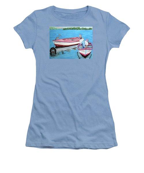 El Pescador De Guanica Women's T-Shirt (Junior Cut) by Luis F Rodriguez