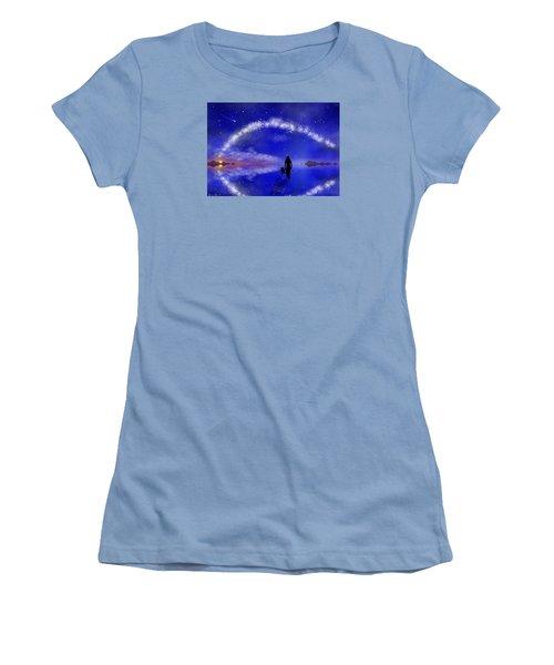 Women's T-Shirt (Junior Cut) featuring the digital art Emily's Journey Part 1 by Bernd Hau