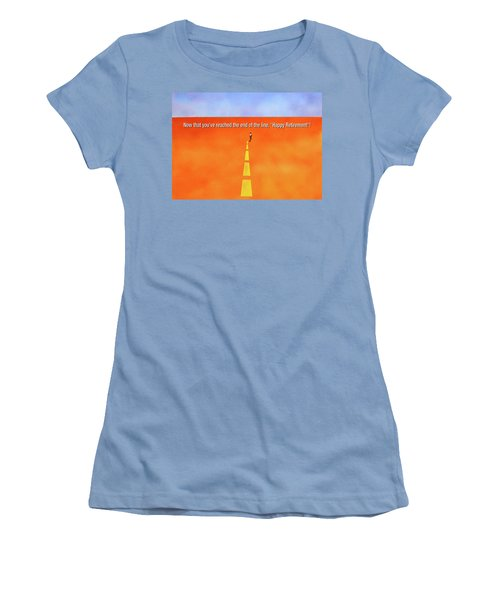 End Of The Line Greeting Card Women's T-Shirt (Junior Cut)