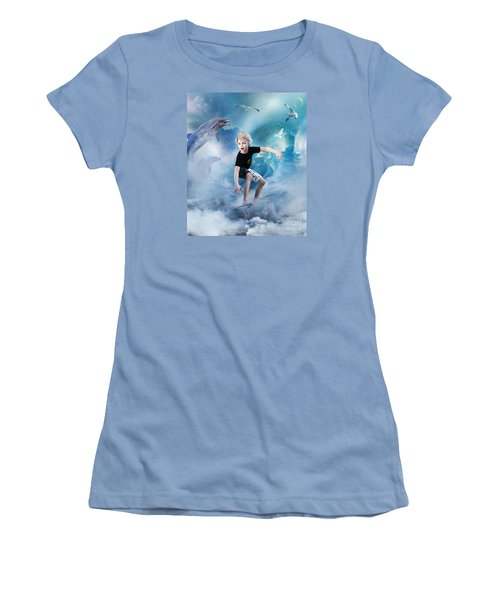 Endless Wave Women's T-Shirt (Junior Cut) by Shanina Conway