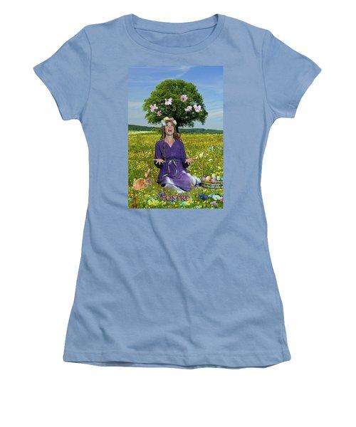 Eostre Women's T-Shirt (Junior Cut) by David Clanton