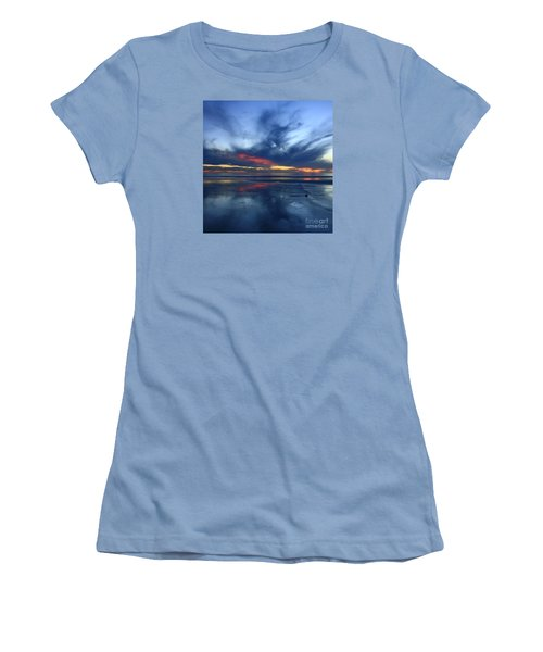 Ethereal Beach Blues Women's T-Shirt (Athletic Fit)