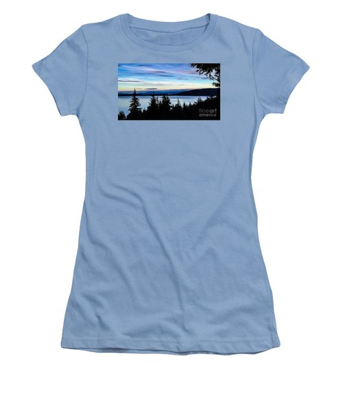 Women's T-Shirt (Junior Cut) featuring the photograph Evening Sky by William Wyckoff