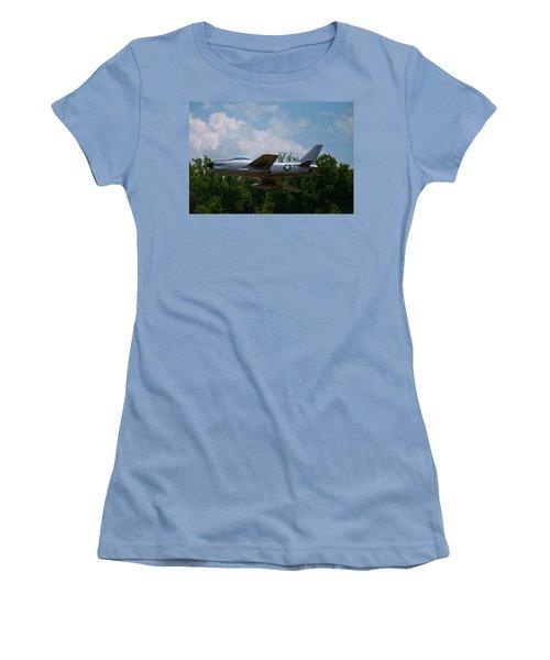 Women's T-Shirt (Junior Cut) featuring the digital art F-86l Sabre by Chris Flees