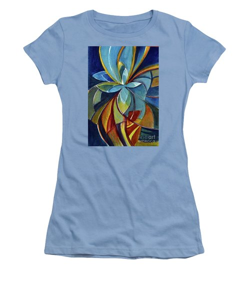 Fractal Flower Women's T-Shirt (Athletic Fit)