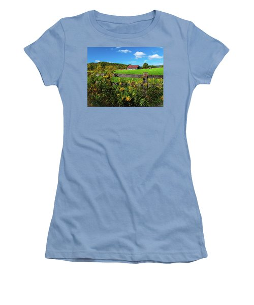 Fall Farm Women's T-Shirt (Athletic Fit)