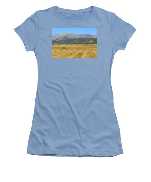 Women's T-Shirt (Junior Cut) featuring the photograph Farming In The Highlands by David Chandler