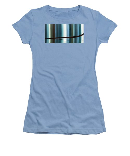 Women's T-Shirt (Junior Cut) featuring the painting Feeling Engaged by Carmen Guedez